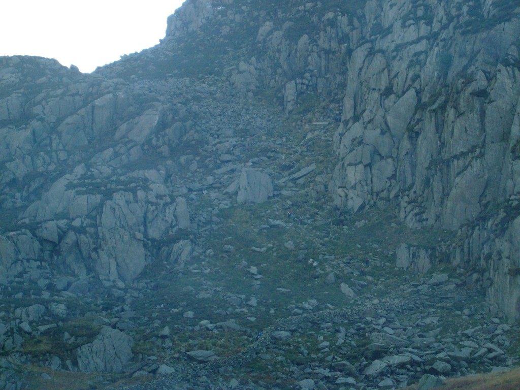 Początek Tryfan North Ridge
