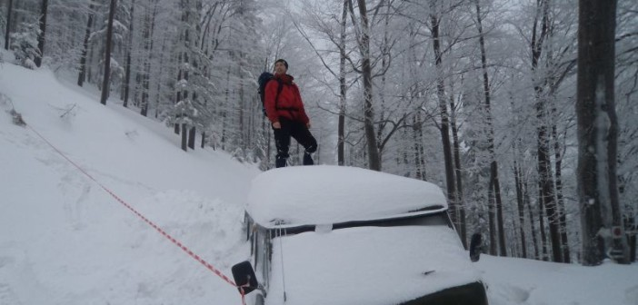 szlak na klimczok zimą